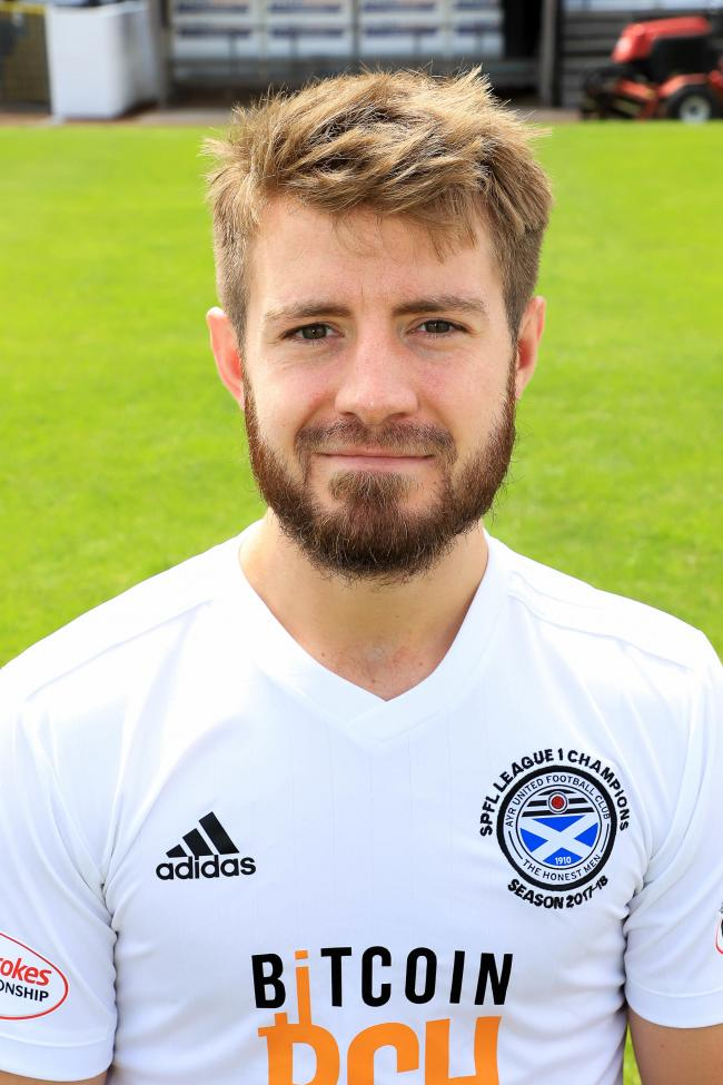 Ayr United Players (2018 - 19) - Ross Docherty.