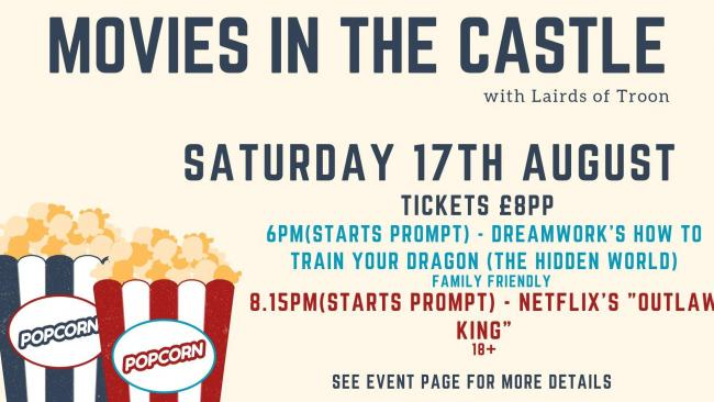 Dundonald Castle will host a movies night