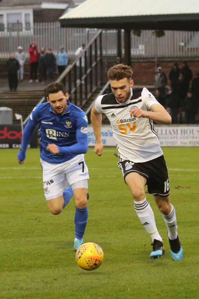 Aaron Drinan bagged his first Ayr United goal.