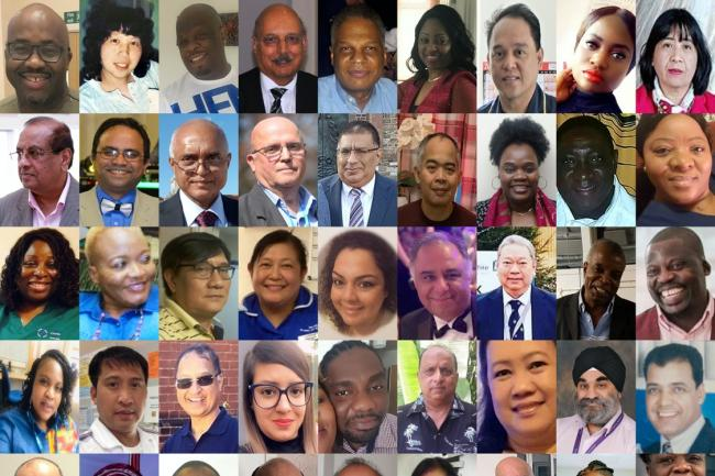 BAME healthcare staff who have died during the Covid-19 pandemic