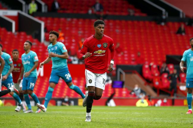 Marcus Rashford is relishing being part of Manchester United's front three