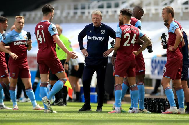 West Ham manager David Moyes saw his side pegged back twice to draw at Newcastle
