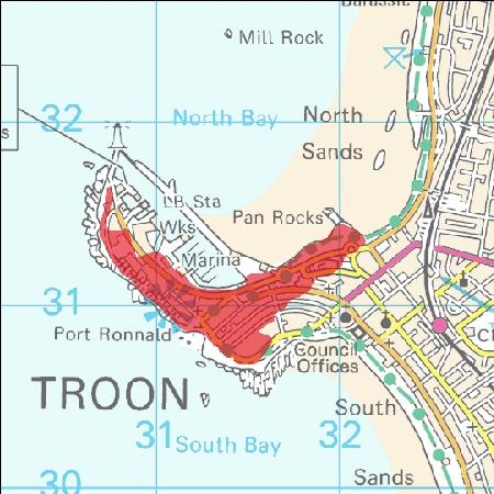 Troon Scotland Map.Troon Central Given Flood Warning By The Scottish Environmental