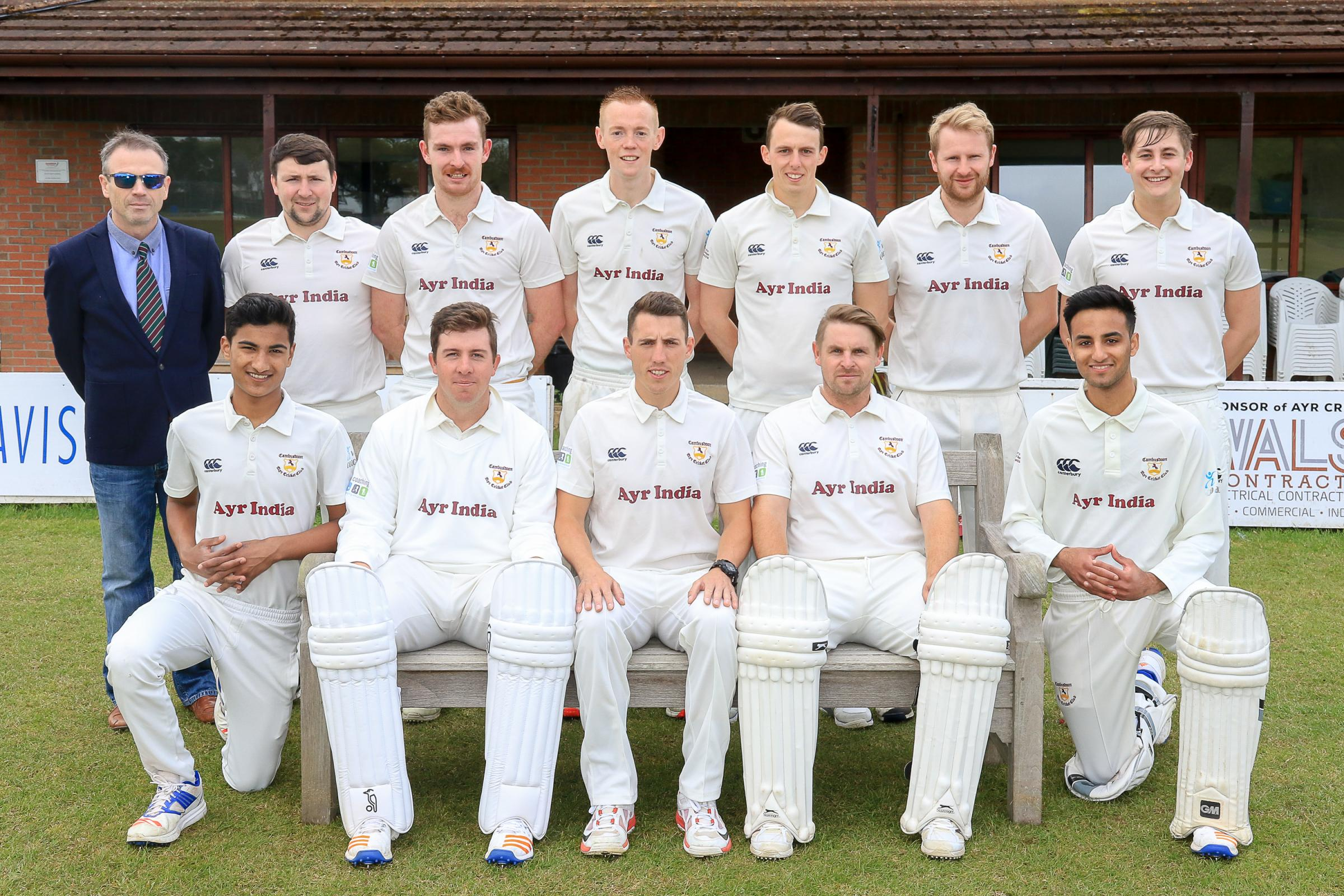 FUNDING BOOST: Ayr Cricket Club have gained a lotto support. Pictured are the 1st XI
