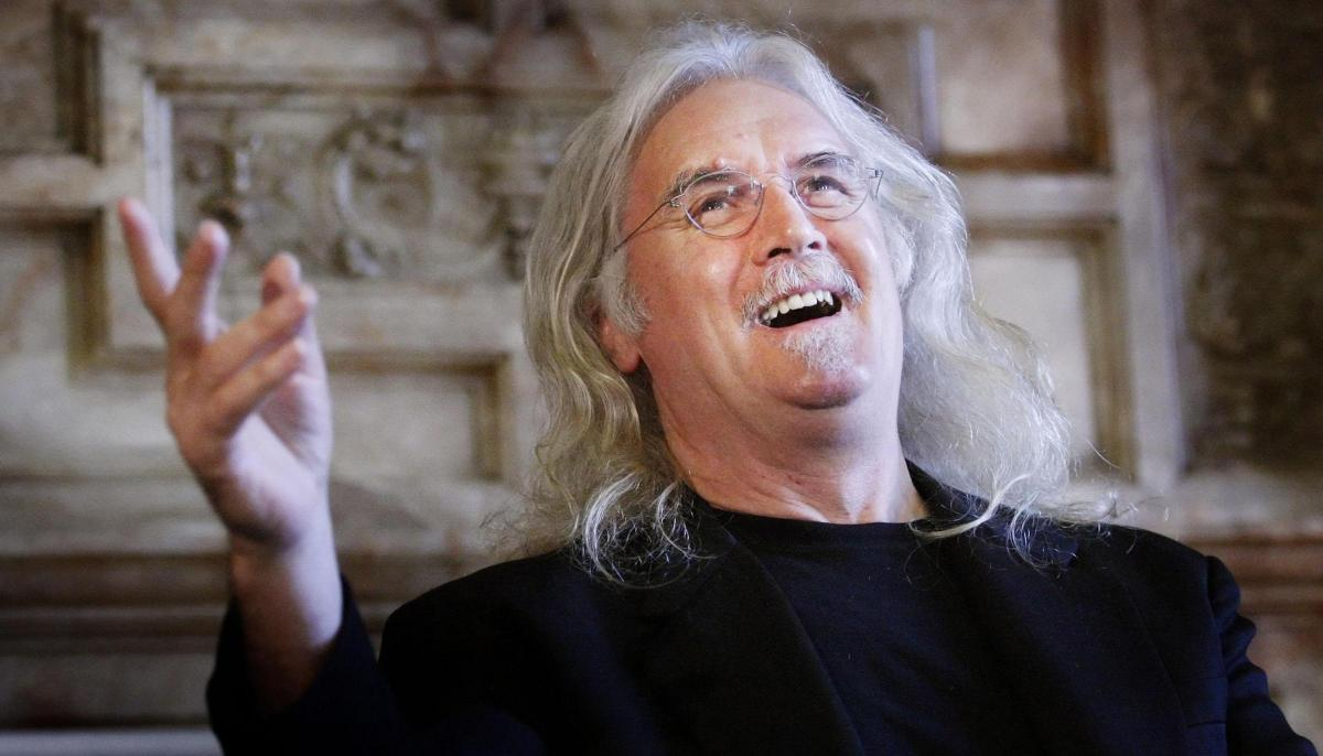 Sir Billy Connolly takes in the taxi trip