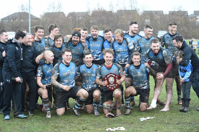 GLORY BOYS:  Carrick Rugby Club won the BT Shield last year and will be hoping to defend the trophy at Murrayfield on Sunday.