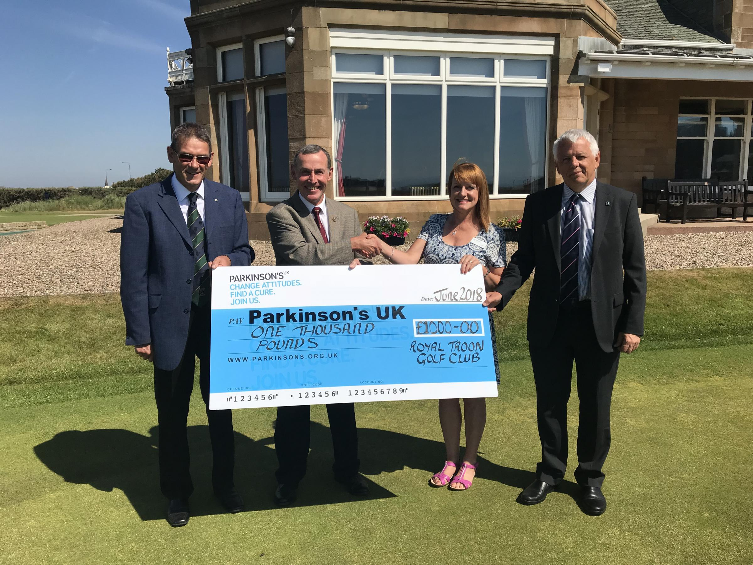 Royal Troon's grand donation to Parkinson UK