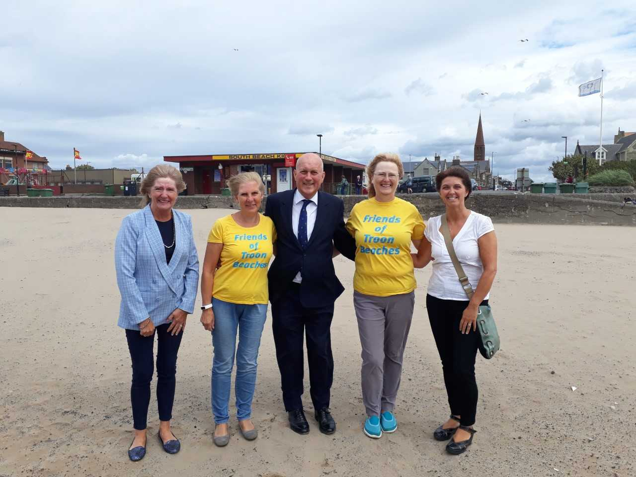 MP hails growth of Troon as he meets with community groups
