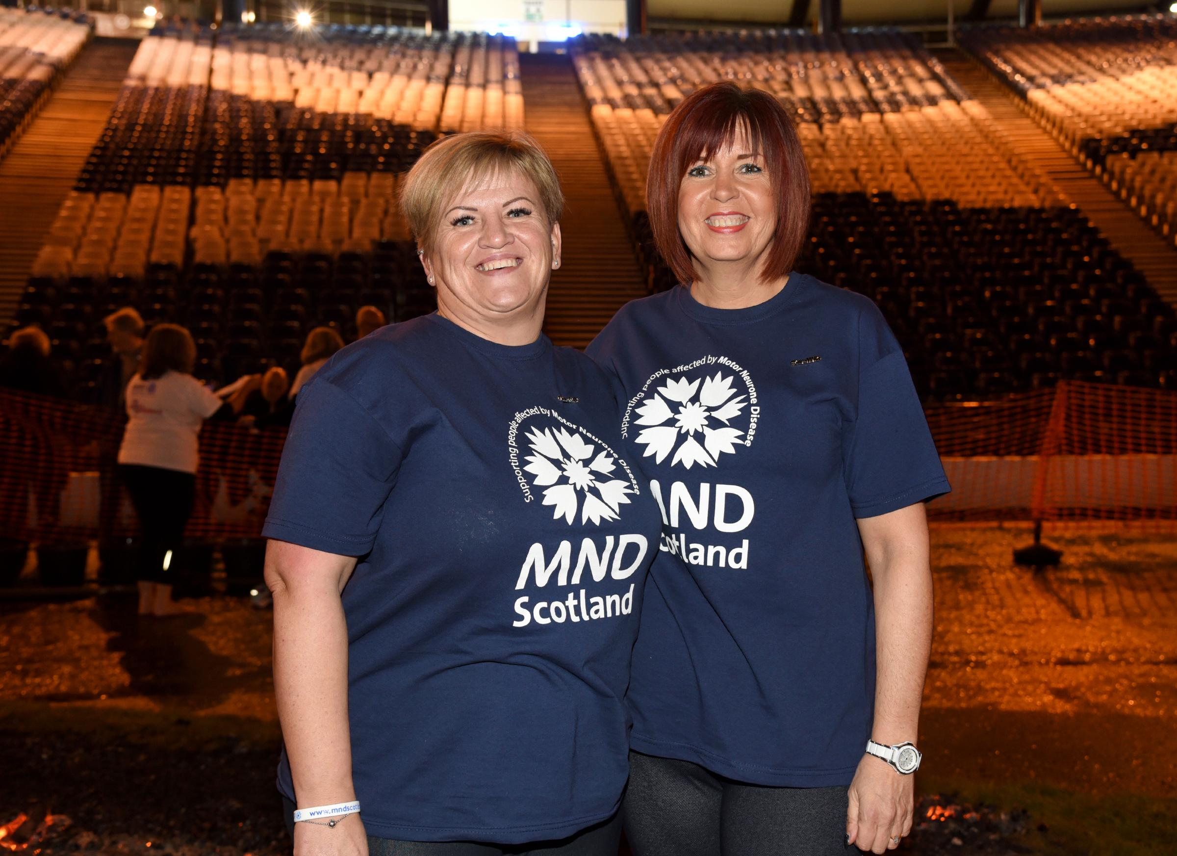 Fire and glass walk for MND