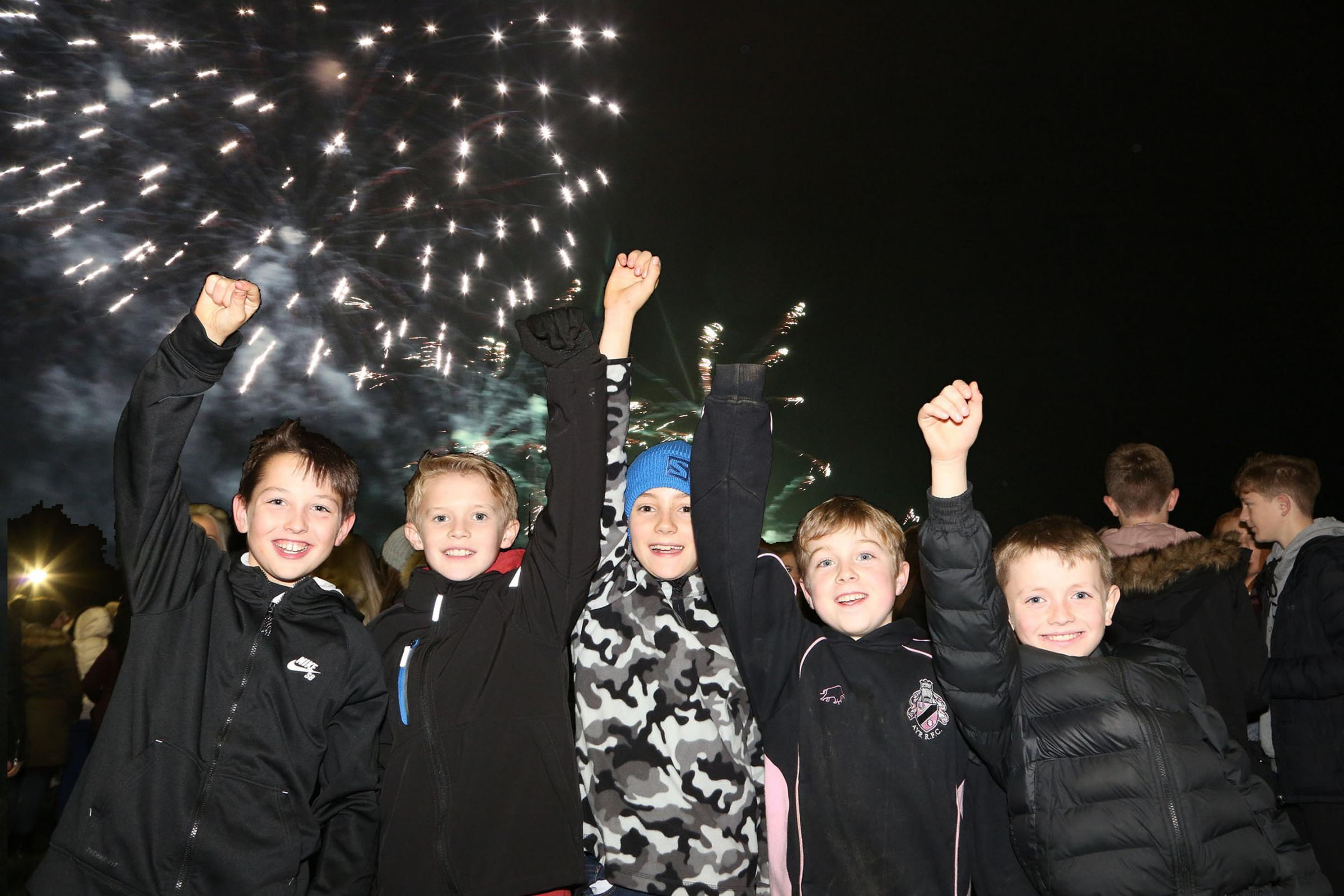 FIREWORKS FUN: Last year's display at Ayr Rugby Club was a success.