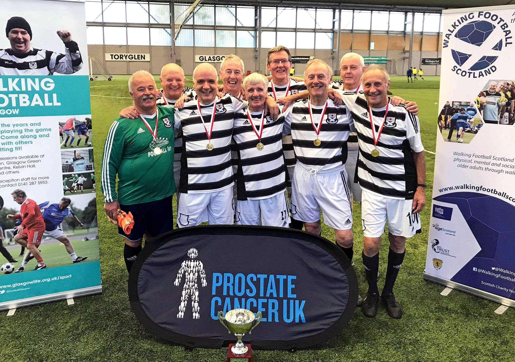 GLORIOUS TRIUMPH: Ayr United won the Walking Football event.