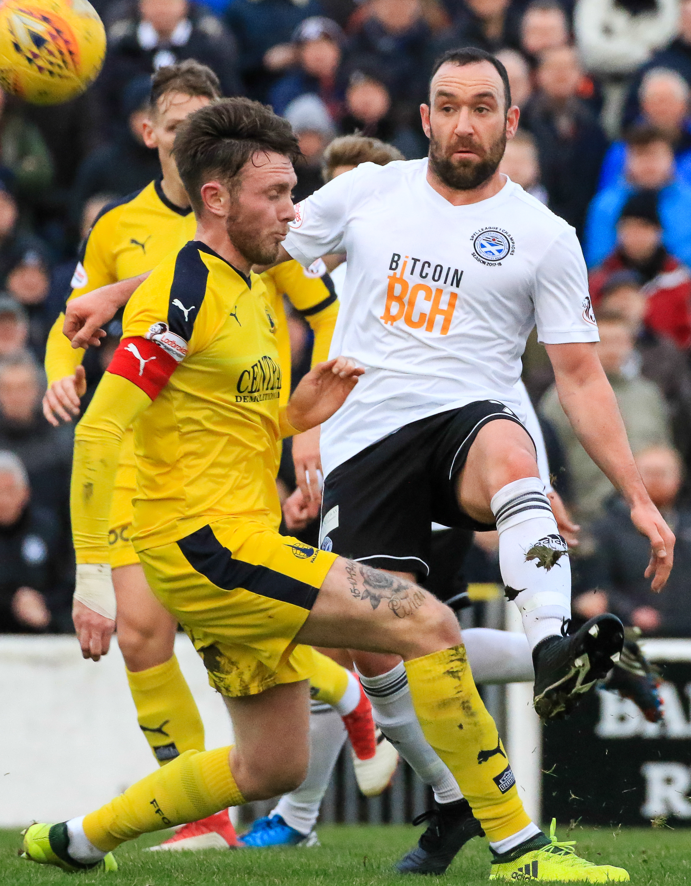 AGONISING DEFEAT: Ayr lost their unbeaten home record aaginst Falkirk.